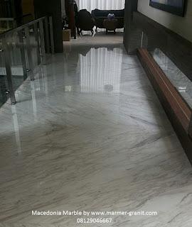 lantai marmer macedonia terpasang