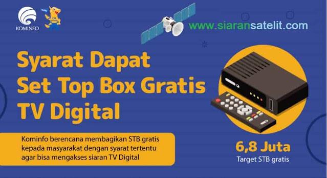 Cara Dapat Set Top Box TV Digital Kominfo Gratis
