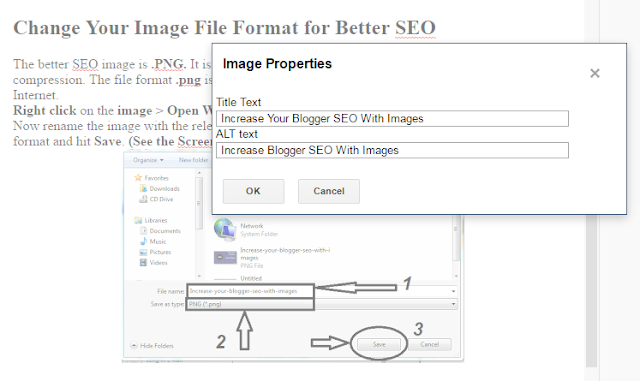 Increase Your Blogger SEO With Images