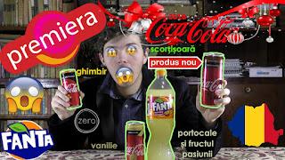 Coca-Cola Zero Cinnamon scorțișoară, vanilla vanilie 330 ml și zero ginger ghimbir, dar și Fanta portocale și fructul pasiunii plus lămâie sau fuzetea ice tea green tea mango chamomile mușețel și Fuzetea zero zahăr black icetea white peach piersică