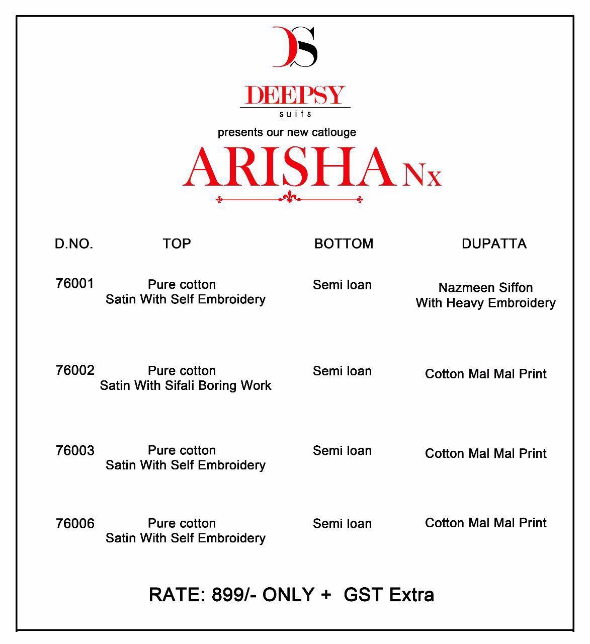 ARISHA NX-New Arrival Pure Cotton Dress Material