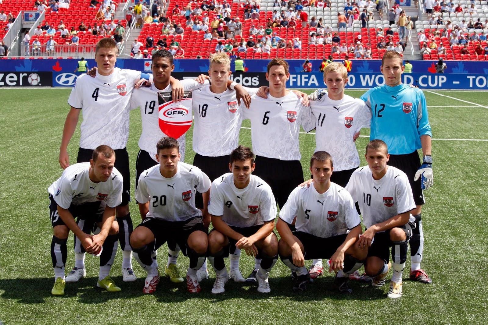 Formación de Austria ante Chile, Copa del Mundo Sub-20 Canadá 2007, 22 de julio