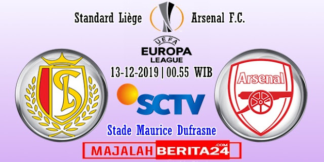 Prediksi Standard Liege vs Arsenal — 13 Desember 2019