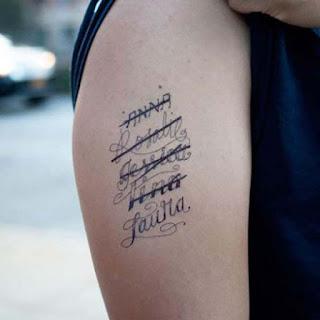 Resultado de imagen para tatuaje nombre pareja
