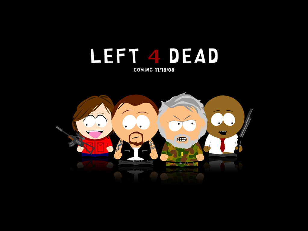 Video Game Gallery Left 4 Dead South Park Style Wallpaper