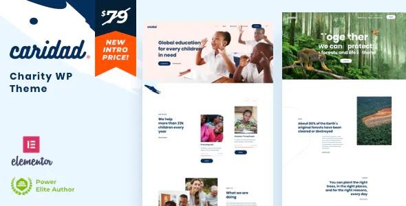 Best Charity Nonprofit Premium WordPress Theme