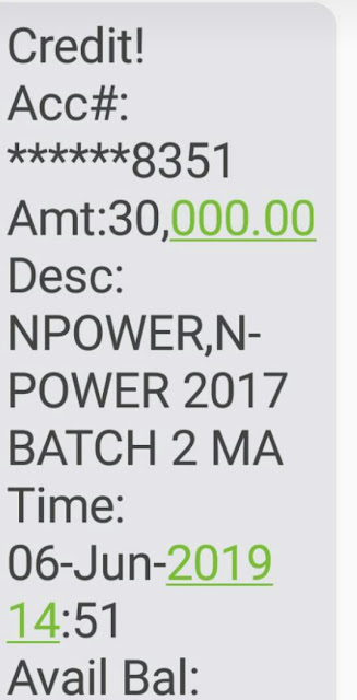 N-POWER MAY PAYMENT IS ONGOING TODAY THURSDAY , 6TH JUNE 2019
