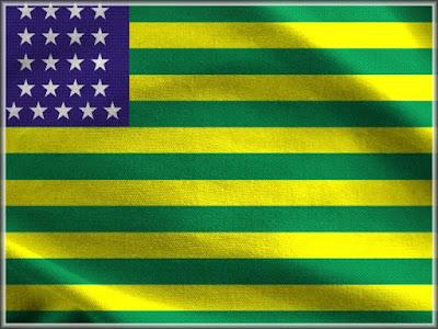 Foto da Bandeira Provisória da República Brasileira que vigorou entre os dias 15 e 19 de novembro de 1889