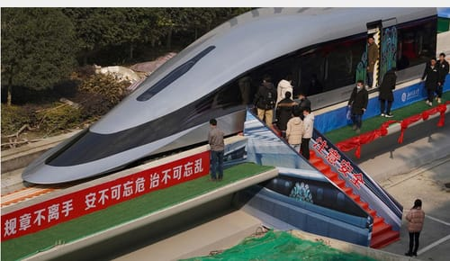 In China there is a train with a speed of 620 kilometers per hour