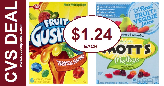 CVS Deal Betty Crocker Fruit Gushers