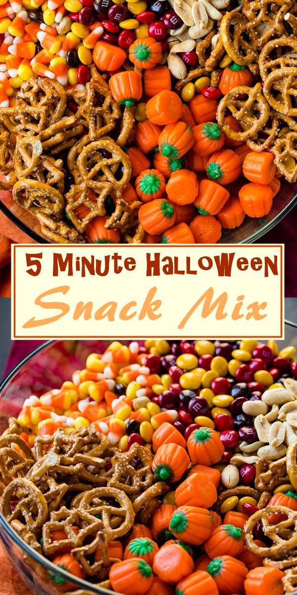 5 Minute Halloween Snack Mix #halloweenrecipes