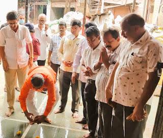 श्री संतोषी माता मंदिर का जीर्णोद्धार के काम का शुभारंभ  | #NayaSaberaNetwork