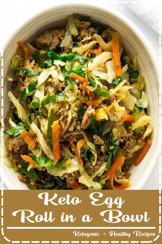 pan Keto Egg Roll in a Bowl recipe is delicious and low Keto Egg Roll in a Bowl