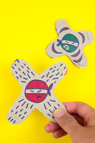 How to Make Cardboard Ninja Stars (that actually fly and throw like real toys!) - Such a fun craft for kids!