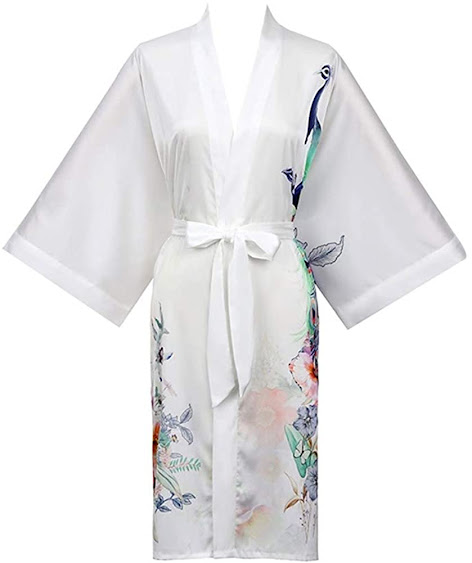 Women's Satin and Silk Kimono Robes