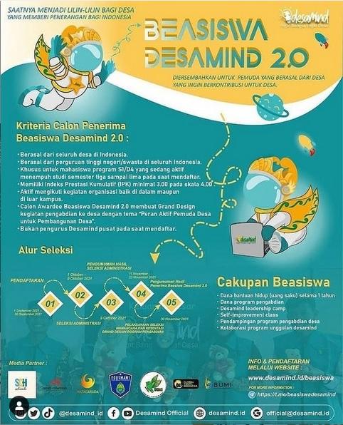 BEASISWA DESAMIND 2.0 TELAH DIBUKA