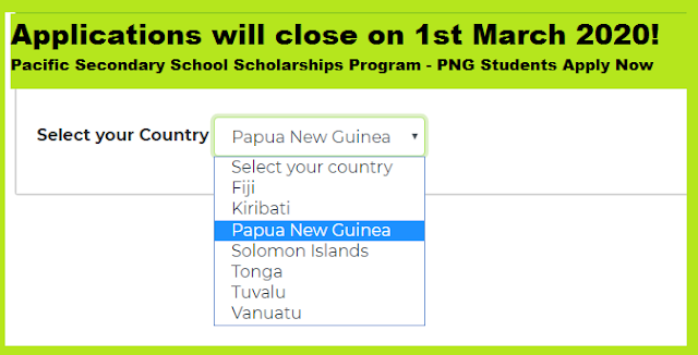 PNG Students Apply Now