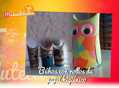 Manualidades Buhos Con Rollos De Papel Higienico La Eduteca - Manualidades-con-rollos-papel-higienico