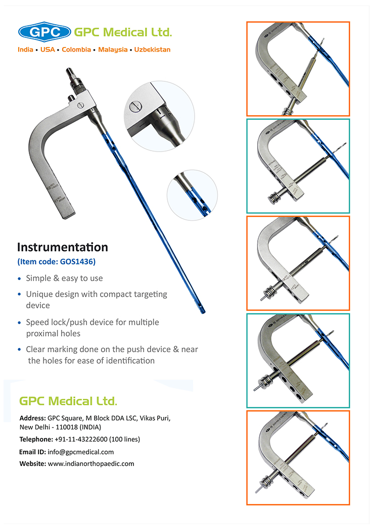 Instrumentation - intraHEAL Multi Angle Tibial Nail