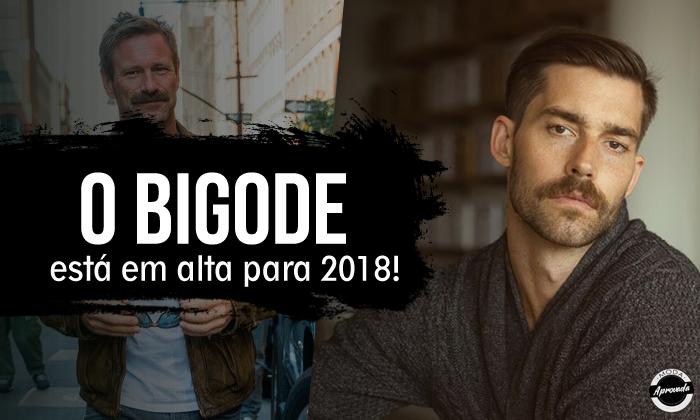 Bigode Masculino em Alta para 2018!