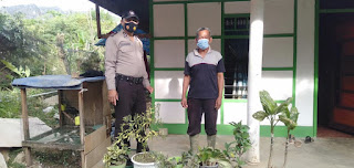 Cegah Covid-19 Anggota Polsek Alla Terus lakukan Patroli dan Imbauan Tetap Gunakan Masker