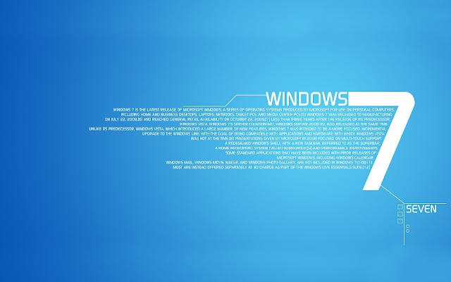 Blauwe Windows 7 wallpaper