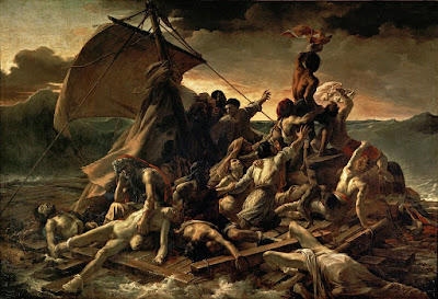 Balsa da Medusa (em francês: Le Radeau de la Méduse), pintura de Théodore Géricault. #PraCegoVer