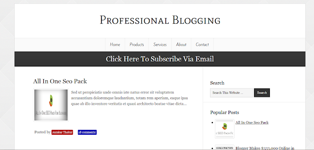 Professional Blogging Blogger Template