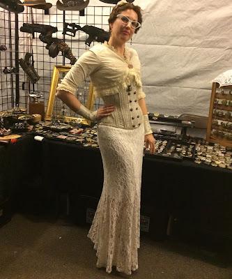 Gail Carriger In Cream Lace Steampunk Worlds Fair