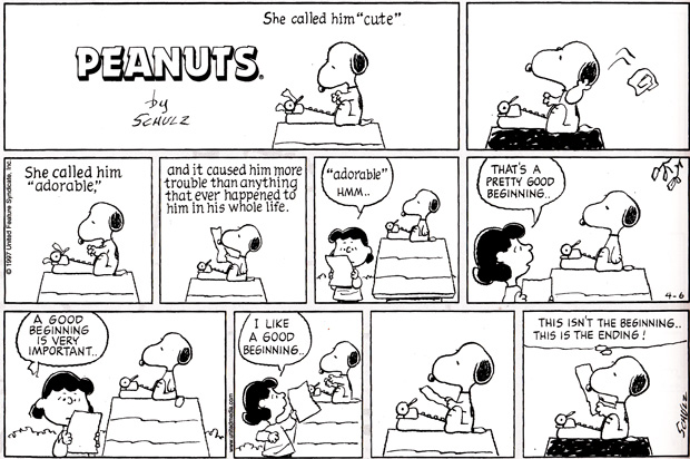 Writing In The Crosshairs: SNOOPY'S 6 RULES FOR WRITING A