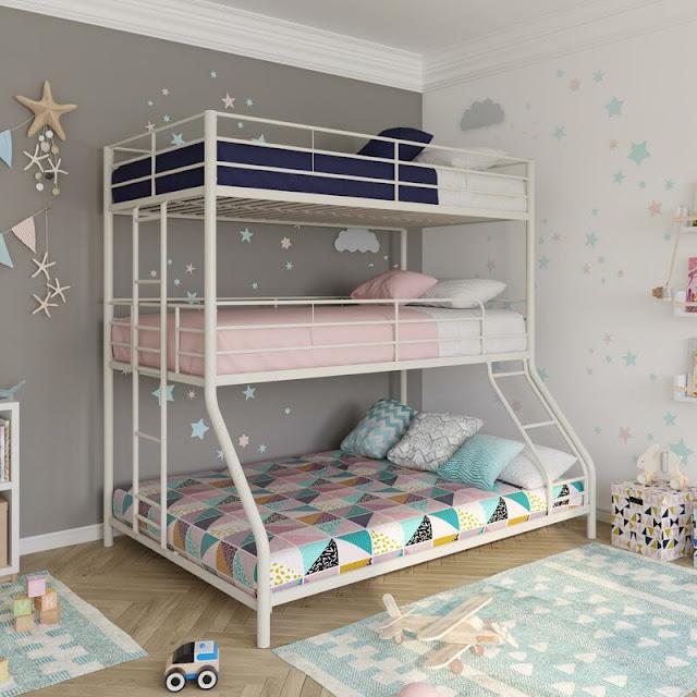 giường tầng người lớn thiết kế đơn giản