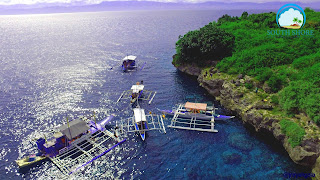 Island hopping is a popular activity in Moalboal Cebu