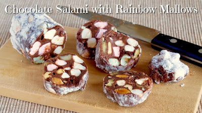 Chocolate Salami with Rainbow Mallows (No-Bake Recipe)
