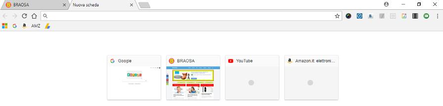 Aprire una nuova scheda browser chrome