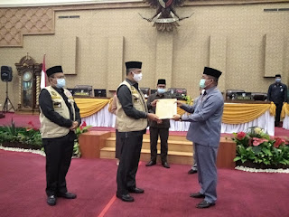 Walikota Jambi Menyampaikan LKPJ Ke DPRD Kota Jambi