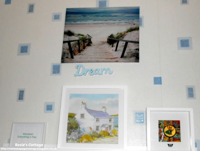 "Rosie's ""calm wall"" -I adore this wall in our master bedroom, it's where I sit when I want to rest and be calm."