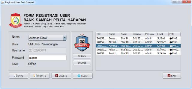 Form Registrasi User Bank Sampah (Hanya untuk Root)