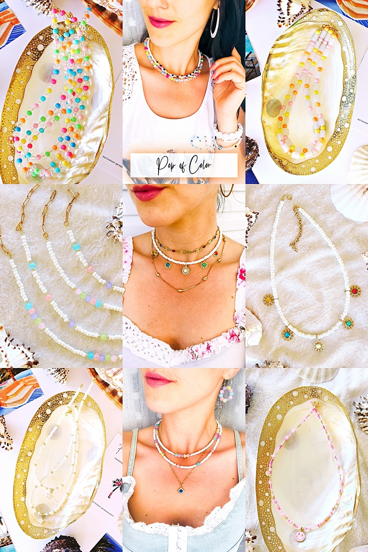 FAB & HAPPY colorful dainty handmade jewelry necklaces bracelets anklets, moderan rucno radjeni nakit