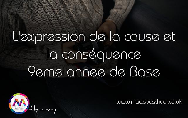 L Expression De La Cause Et La Consequence 9eme Annee De