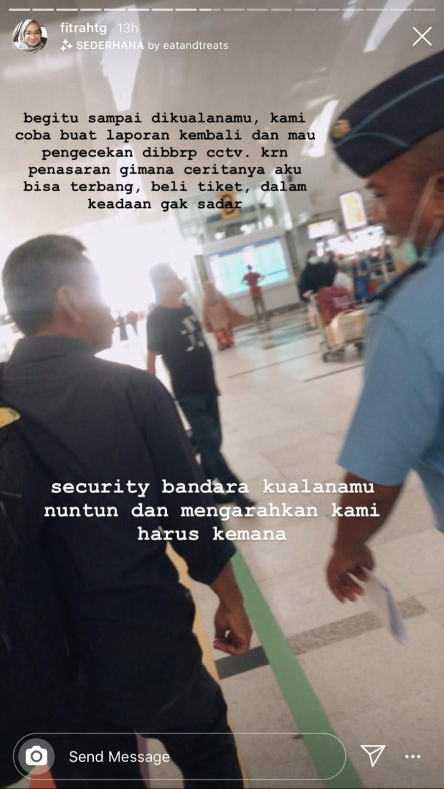 Mengalami keadaan tidak sadar di bandara Kualanamu