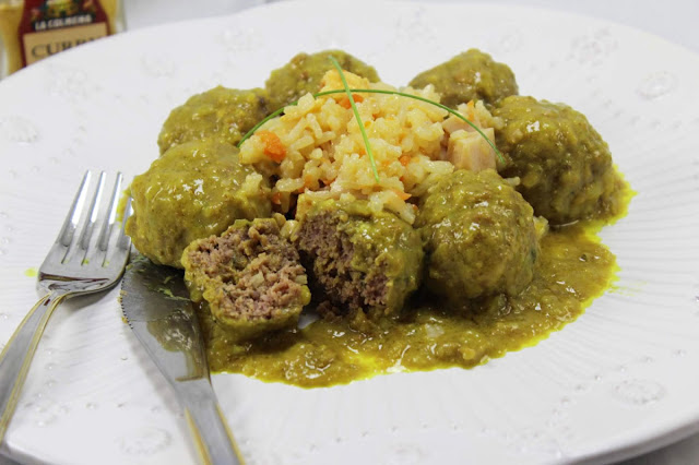 Albóndigas en salsa de curry olla GM
