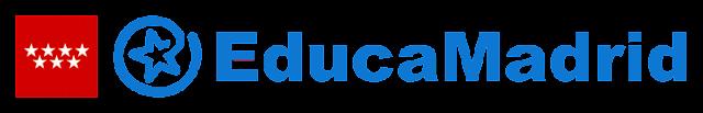 Logo de EducaMadrid, la Plataforma Tecnológica Educativa de la Comunidad de Madrid
