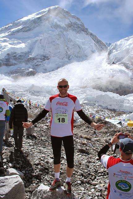 Ready to  start in Tenzing Hillary Everest Marathon