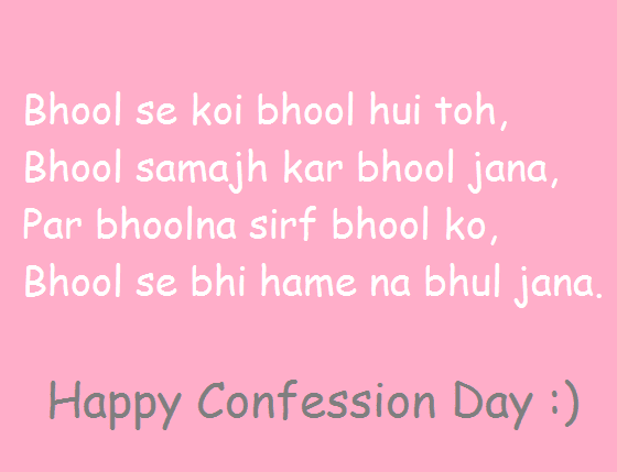 Confession Day images 2020