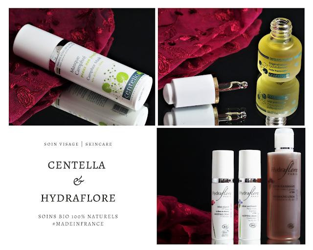 cosmétiques bio, cosmétiques naturels, soins du visage bio, soin du visage naturels, soins bio peaux mixtes, soins bio anti-rides, avis centella, avis hydraflore