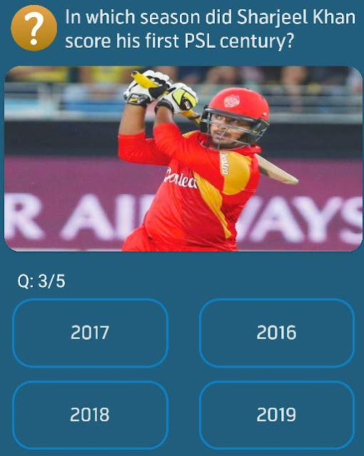In which season did Sharjeel Khan score his first PSL century?