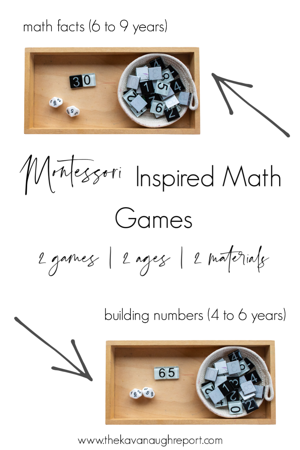 These Montessori inspired activities are perfect educational ways to bring math into your home for older kids. This easy setup helps to make math concrete and fun.