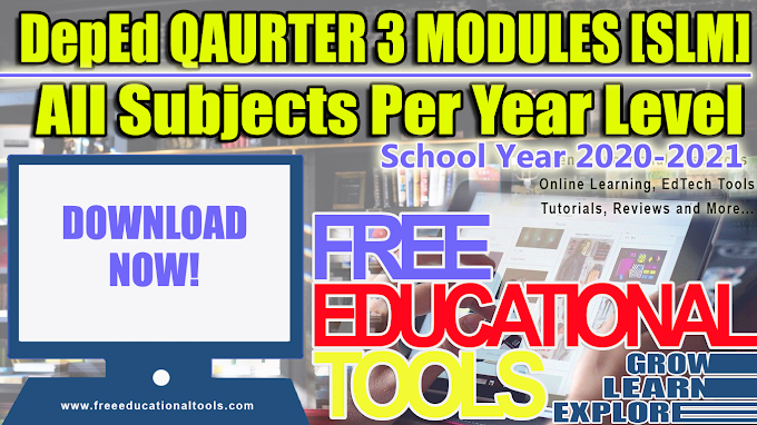 DepEd 3RD Quarter Modules (SLM) in All Subjects Per Grade/Year Level