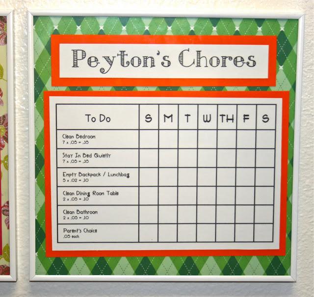 Smart-Bottom Enterprises: Dry Erase Chore Charts
