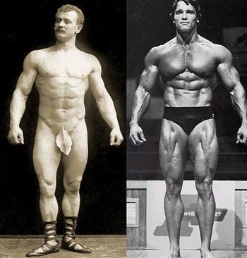 Eugen Sandow Vs Arnold Schwarzenegger